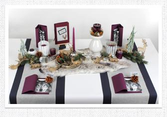 Tischdeko Weihnachten in Edel & Wild