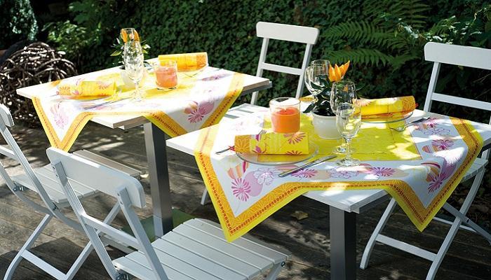 Servietten mustertische sommer summer story orange von duni bei tafeldeko einzigartige - Sommer tischdeko ...