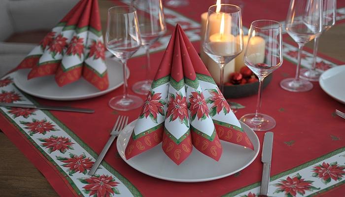 Servietten Mustertische Weihnachten Weihnachtsstern Von Duni Bei
