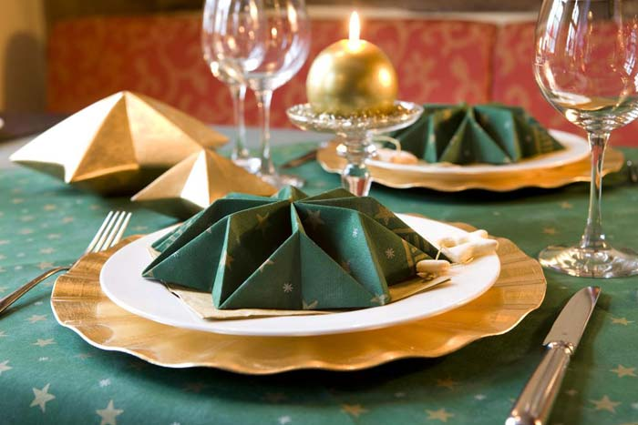 servietten mustertische weihnachten stella green von duni. Black Bedroom Furniture Sets. Home Design Ideas
