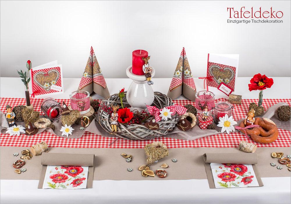 6 Mustertisch Huttengaudi In Rot Kariert Tischdeko Herbst