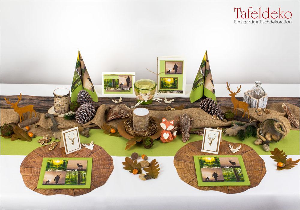 12 Mustertisch Waidmannsheil Tischdeko Herbst Tafeldeko De