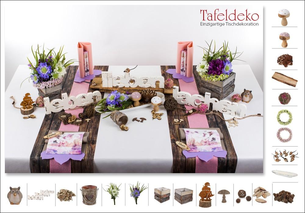 5 Mustertisch Leben Lieben Lachen Tischdeko Herbst