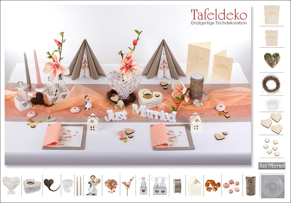 3 Mustertisch In Apricot Tischdeko Hochzeit Tafeldeko De