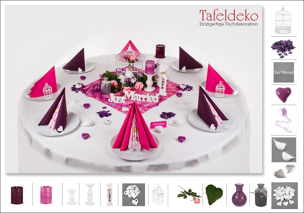 15 mustertisch in pink plum tischdeko hochzeit for Tischdeko pink