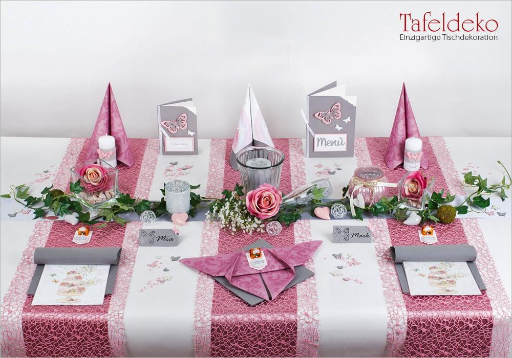 2 Mustertisch Romantik In Altrosa Tischdeko Hochzeit Tafeldeko De