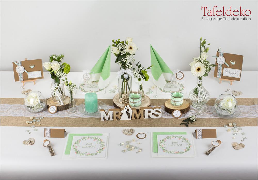 3 Mustertisch Vintage In Mintgrün Tischdeko Hochzeit