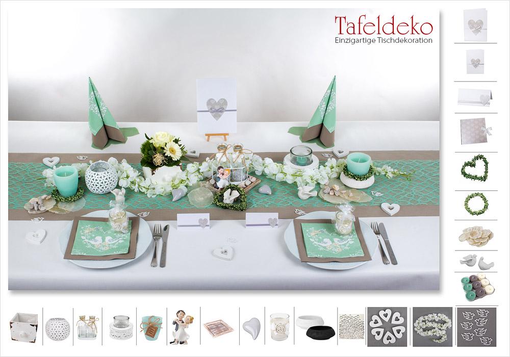 2 Mustertisch In Mint Greige Tischdeko Hochzeit Tafeldekode