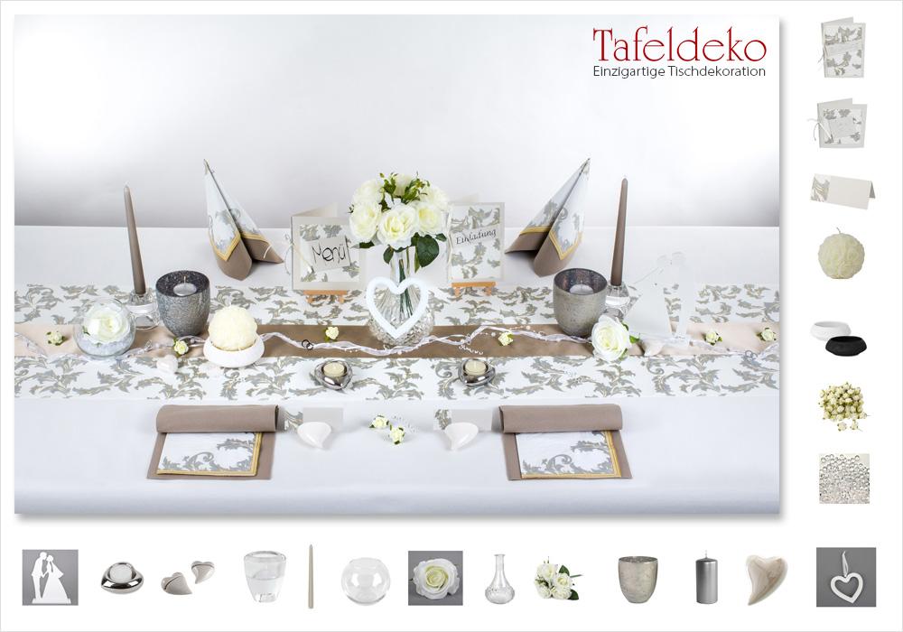 12x Herz creme//weiß geschwungen bauchig Tischdekoration Hochzeit Kommunion Taufe
