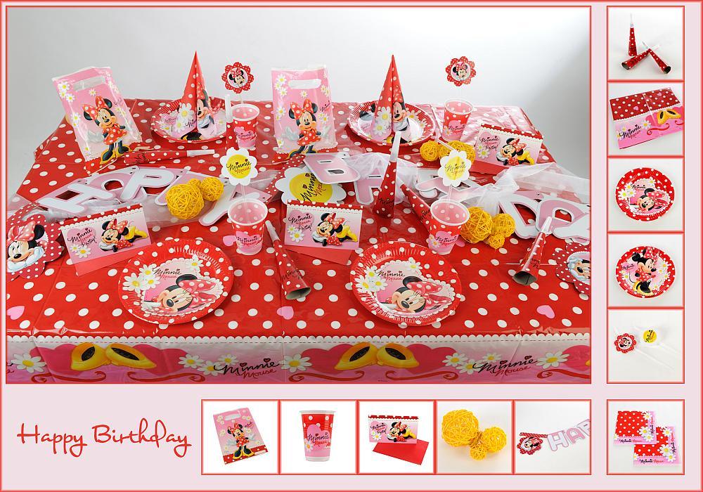 Mustertisch Tischdeko 7 zum Kindergeburtstag mit Minnie Mouse ...
