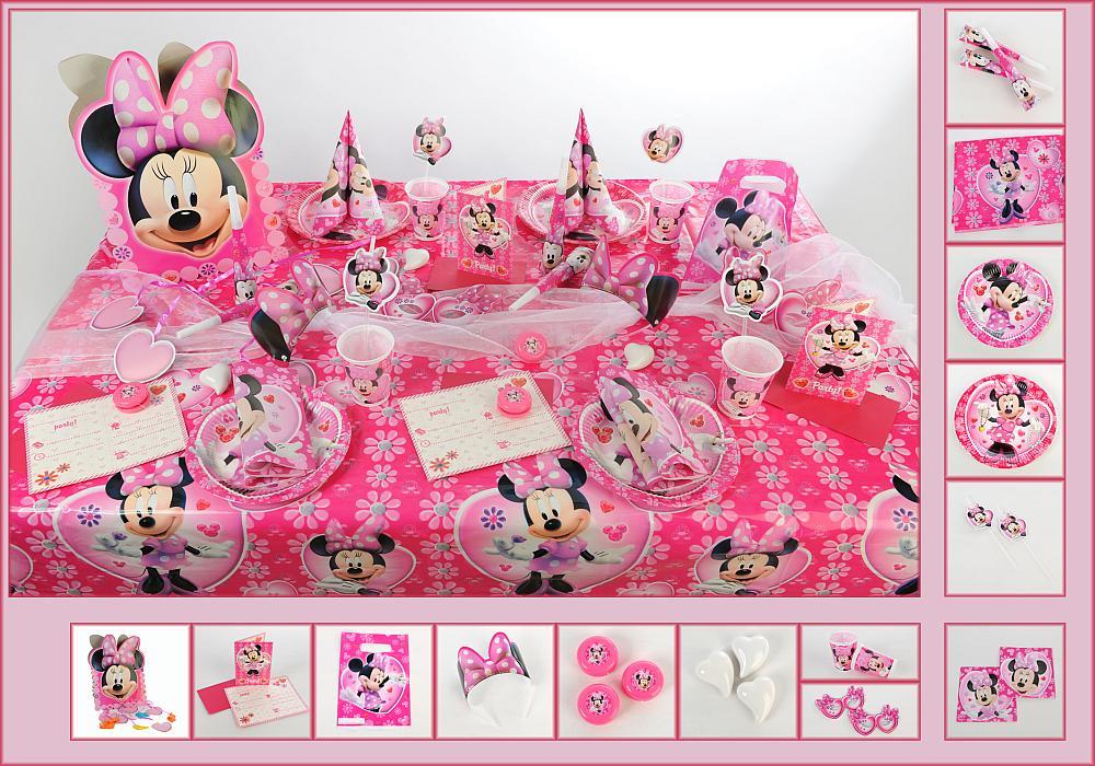 2. Mustertisch Alles pink: Minnie Maus - Tischdeko Kindergeburtstag ...
