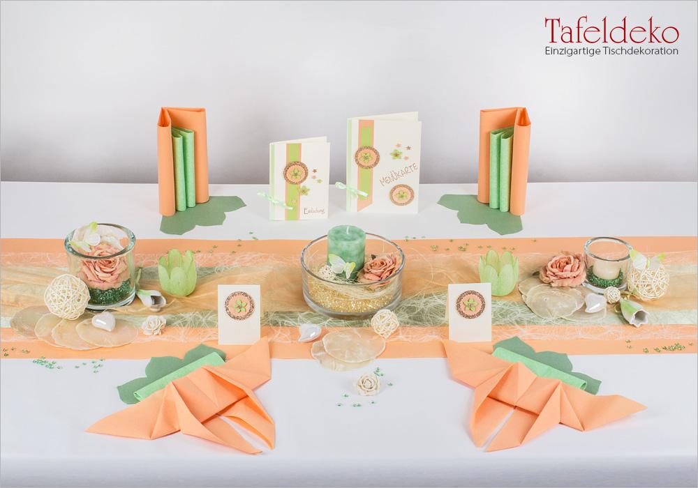 6 Mustertisch Schmetterlinge In Apricot Tischdeko Sommer