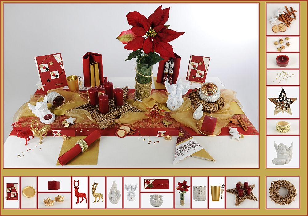 tischdeko weihnachten 8 in rot gold als mustertisch. Black Bedroom Furniture Sets. Home Design Ideas