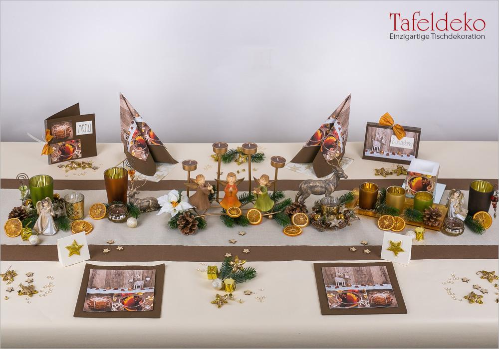 12 Mustertisch Gemutliche Weihnachtszeit In Braun Tischdeko