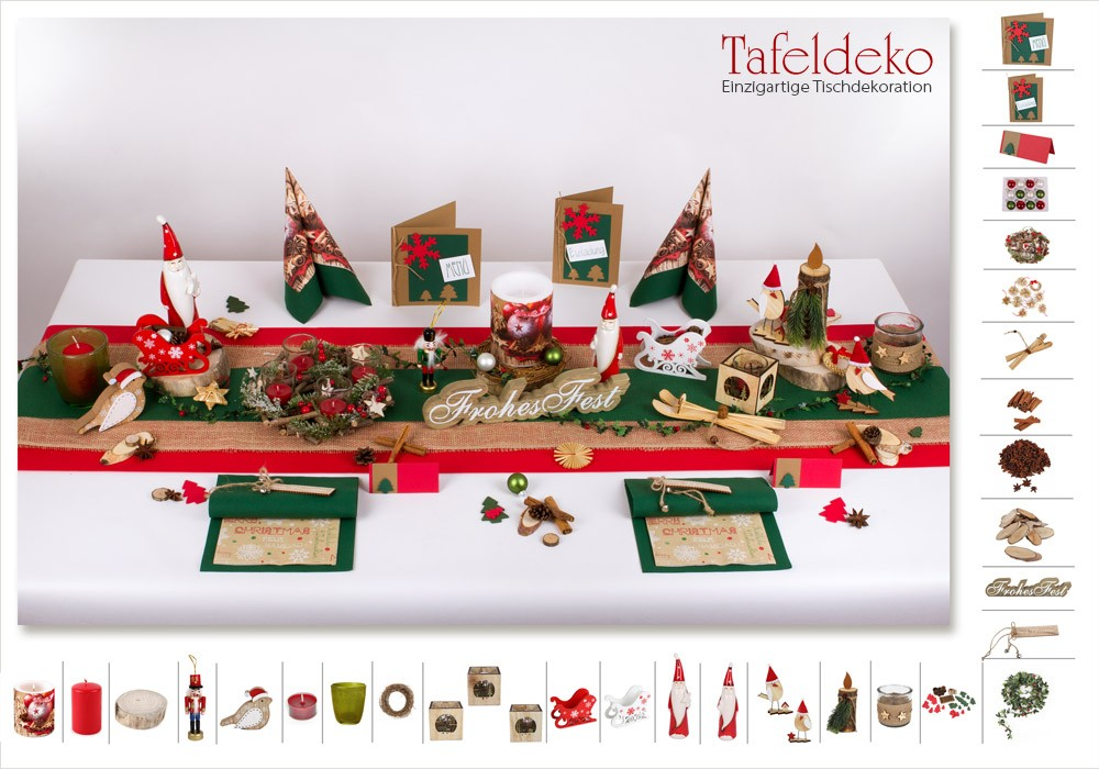 2 mustertisch jute in rot gr n tischdeko weihnachten. Black Bedroom Furniture Sets. Home Design Ideas