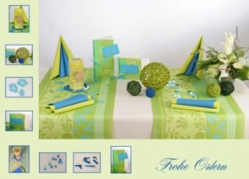 Tischdeko frühling grün  Eine ansprechende Tischdeko in grün zu Ostern | Tafeldeko