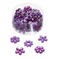 Acrylblüten lila