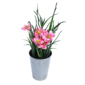 Deko Blumentopf pink