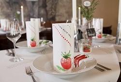 bella italia – tolle tischdeko für die italienische gartenparty, Garten seite