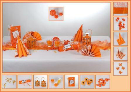 die tischdekoration in orange f r den geburtstag tafeldeko. Black Bedroom Furniture Sets. Home Design Ideas