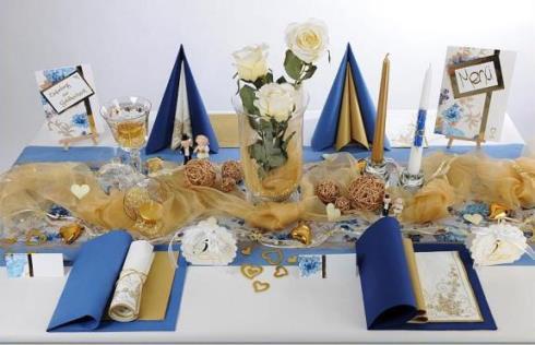 Goldene hochzeit inklusive eindrucksvoller tischdeko - Griechische tischdekoration ...