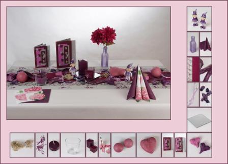 trendige tischdeko f r den herbst in lila tafeldeko. Black Bedroom Furniture Sets. Home Design Ideas