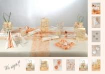 Hochzeitstischdeko In Der Farbe Apricot Tafeldeko