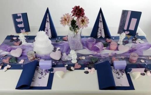Eine Tischdekoration In Blau Zur Hochzeit Wunderschon Tafeldeko