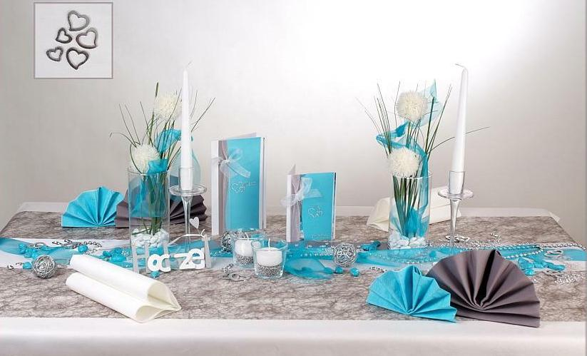 Eine blaue Tischdeko zur Hochzeit - elegant und edel zugleich ...