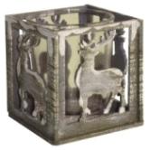 Holz-Teelichthalter Hirsch