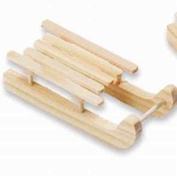 Holzschlitten