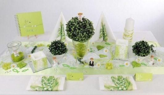 Kommunion Tischdeko Ein Traum In Weiss Und Grun Tafeldeko