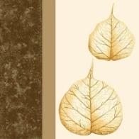 Servietten Blätter Braun