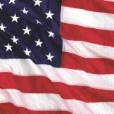 Servietten Amerikanische Flagge