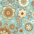 Servietten Blumenmuster blau