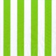 Servietten Streifen grün/weiß