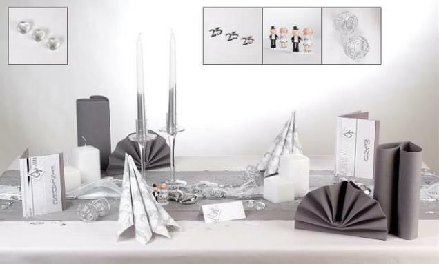 silberhochzeit zur feier geh rt eine sch ne tischdekoration tafeldeko. Black Bedroom Furniture Sets. Home Design Ideas
