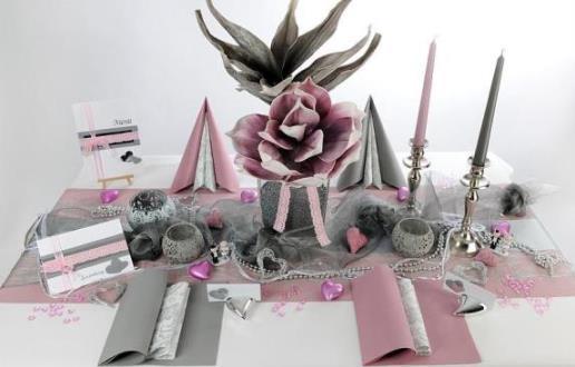 Atemberaubende Tischdekoration für die Silberne Hochzeit  Tafeldeko