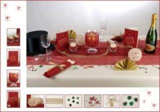 Tischdeko zu Silvester