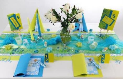 Tischdeko konfirmation blau grün  Schön dekorierte Tische sorgen für eine tolle Basis bei der Taufe ...