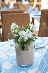 Duni Tilla blau mit Blumen