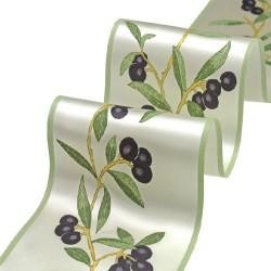 Mediterrane dekoration mit dem tischband olive tafeldeko for Mediterrane dekoration