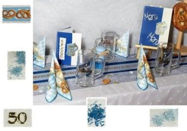A Bayrische Tischdeko Zum 50 Geburtstag Tafeldeko