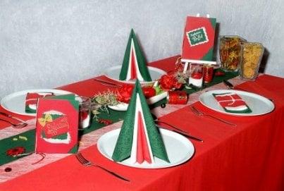 Bella italia auf dem tisch tafeldeko - Duni weihnachtsservietten ...