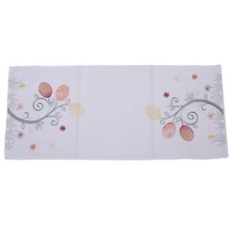 Stoff Tischläufer Eierblume Gelb, Orange, Rot