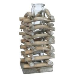 Holzzweiggestell mit Vase
