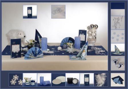 Tischdeko weihnachten silber blau  Die Tischdekoration für die Adventssonntage | Tafeldeko