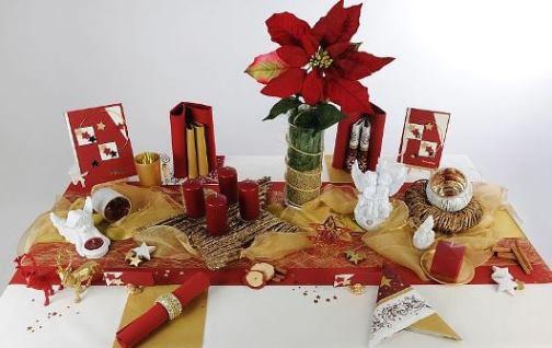 an weihnachten gl nzt der tisch in rot und gold tafeldeko. Black Bedroom Furniture Sets. Home Design Ideas