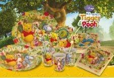 Der kindergeburtstagstisch mit winnie pooh und seinen freunden tafeldeko - Winnie pooh deko ...
