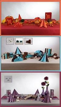 Bunte Herbst-Tischdeko
